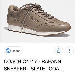 """Coach Gray/Slate Sneaker """"Raeann"""" Size 7"""